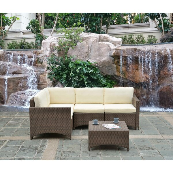 Natchez 5 Piece Sectional Seating Group with Cushions by Ebern Designs