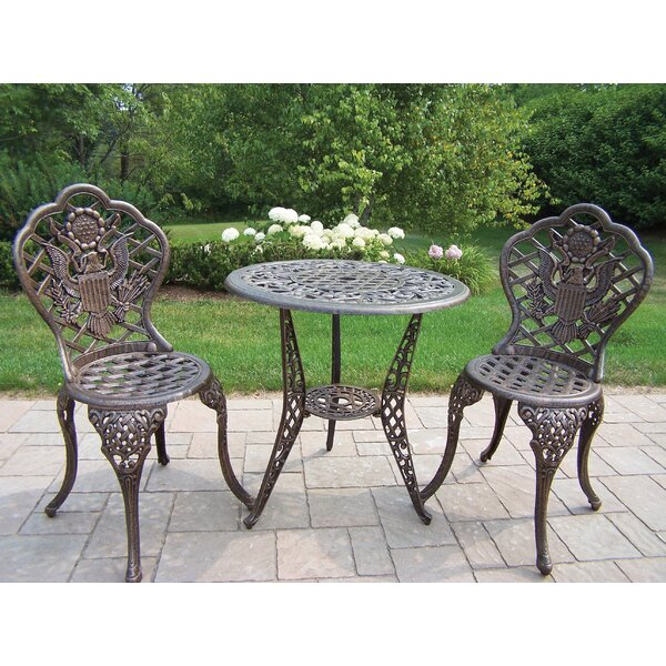 American Eagle 3 Piece Bistro Set by Oakland Living