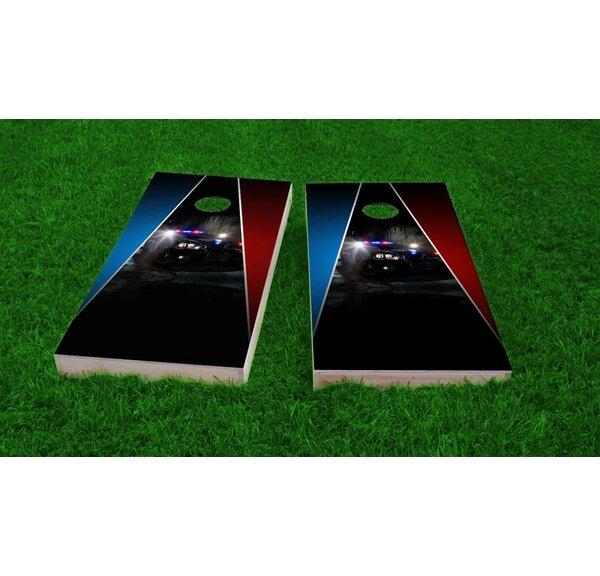 Police Theme Light Weight Cornhole Game Set by Custom Cornhole Boards