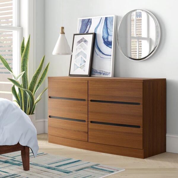 Carrabelle 6 Drawer Double Dresser by Brayden Studio
