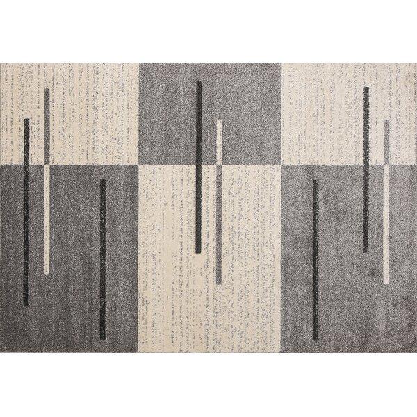 Swinehart Gray/Beige Area Rug by Ebern Designs