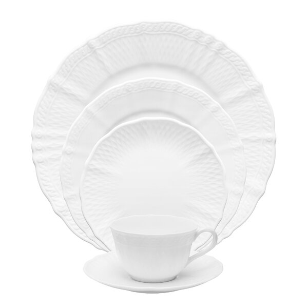 Cher Blanc 5 Piece Place Setting Set, Service for 1 by Noritake