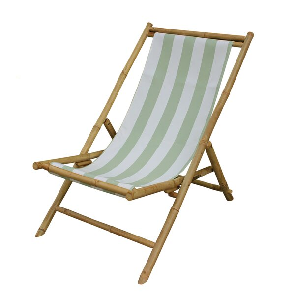 Corning Bamboo Outdoor Sling Lounge Chair by Bay Isle Home