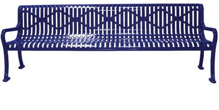 Roll Formed Diamond Surface Mount Metal Park Bench by Leisure Craft Leisure Craft