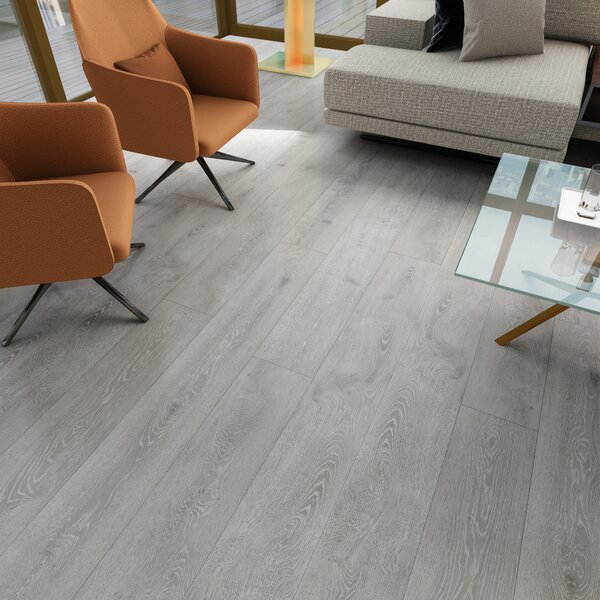Augustus 7.71 x 72.83 x 12mm Oak Laminate Flooring in Royal Blanca by Serradon