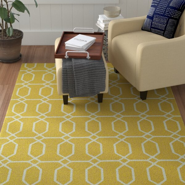 Stepanie Yellow Indoor/Outdoor Area Rug by Winston Porter