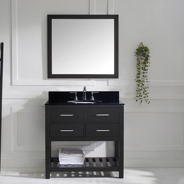 Rishaan 37 Single Bathroom Vanity Set with Mirror by Willa Arlo Interiors