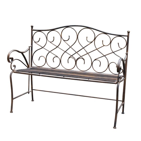 Wilks Metal Garden Bench by Fleur De Lis Living
