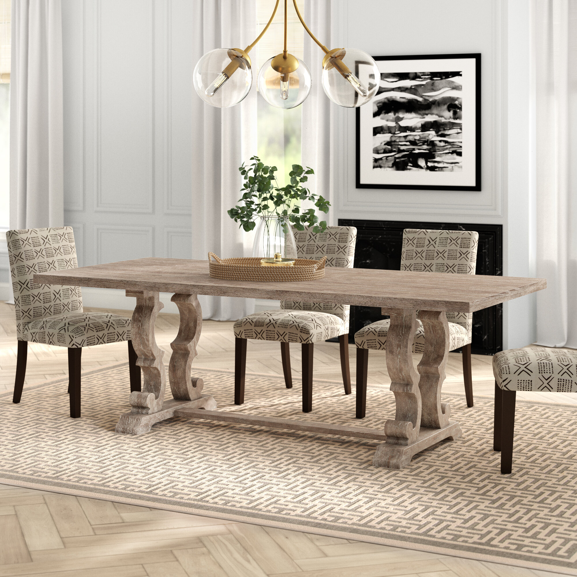 Jacqui Extendable Solid Wood Dining