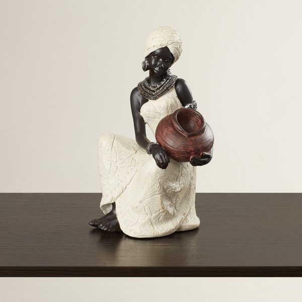 African Woman Figurine by World Menagerie