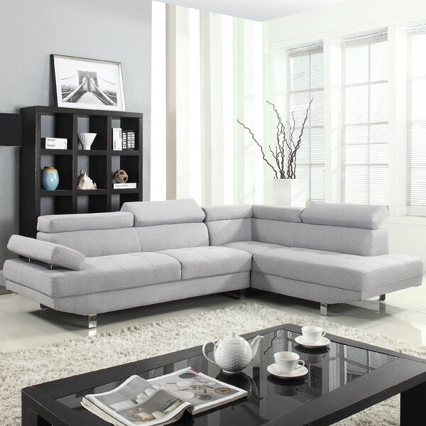 Right Hand Facing Reclining Sectional by Madison Home USA