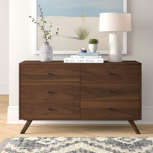 Rocco 6 Drawer Double Dresser by Foundstone