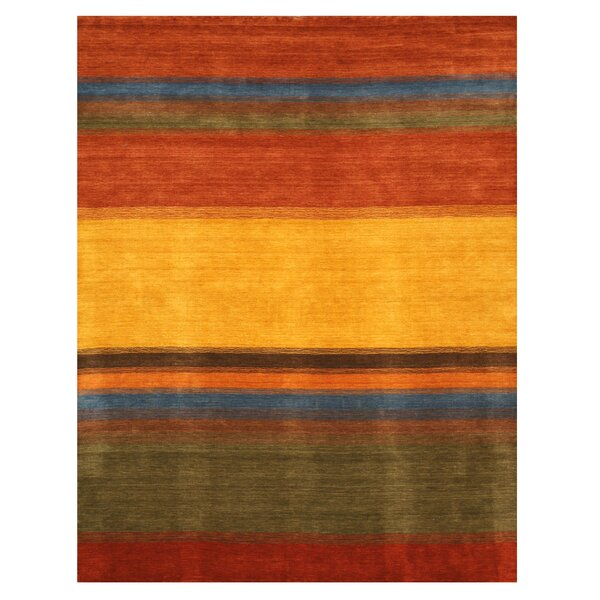 Gabbeh Hand Woven Wool Yellow/Red Area Rug by Eastern Rugs