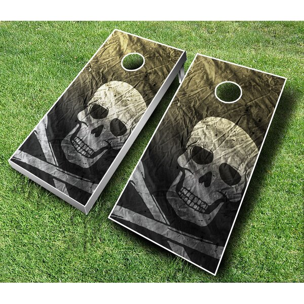 10 Piece Pirate Cornhole Set by AJJ Cornhole