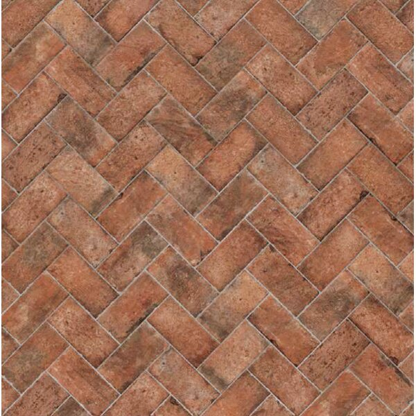 Chicago Brick 8 x 16 Porcelain Brick Look Field Tile in Brown by Tesoro