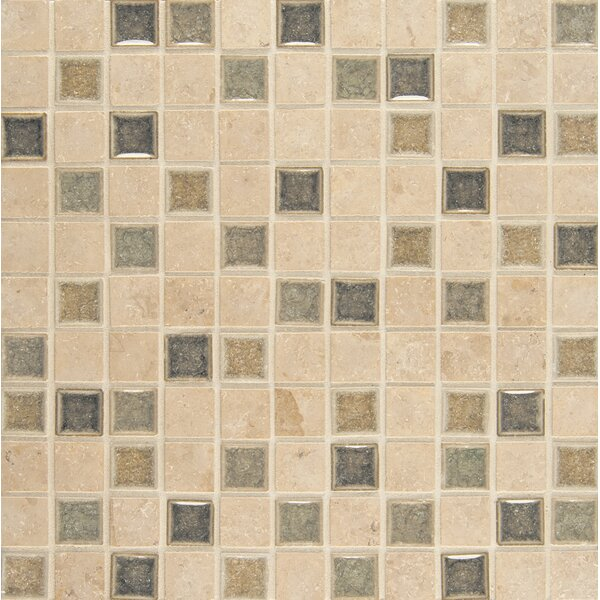 Kismet 1 x 1 Glass Mosaic Tile in Glee by Bedrosians