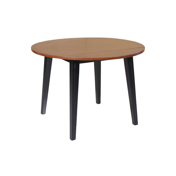 Dinh Drop Leaf Solid Wood Dining Table by Latitude Run