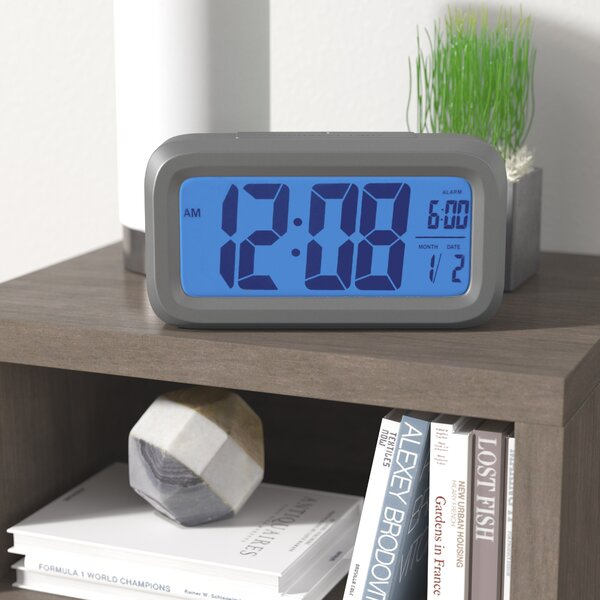 Auto Backlight Easy To Read Alarm Clock by Symple Stuff