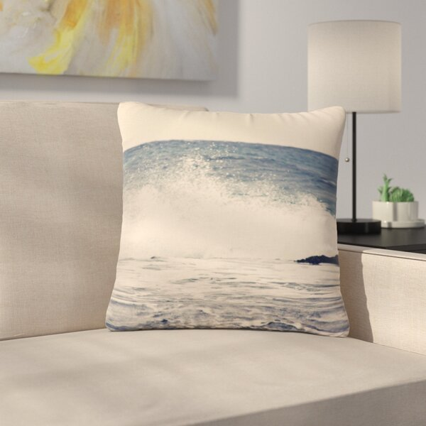 Sylvia Coomes Crashing Waves 2 Costal Outdoor Throw Pillow by East Urban Home