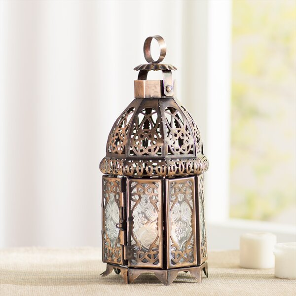 Coppery Moroccan Lantern by Bungalow Rose