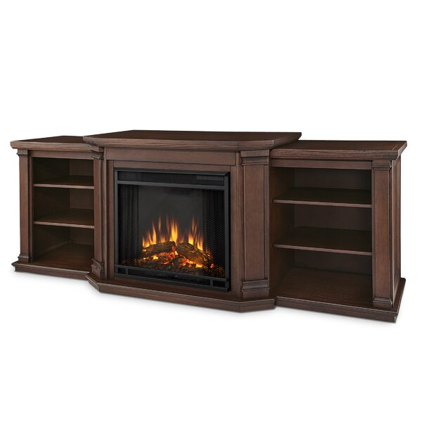 Valmont 76 TV Stand with Electric Fireplace by Real Flame