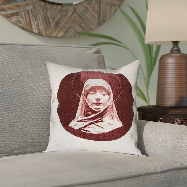 Carpenter Vintage Prayer Woman Outdoor Throw Pillow by Bloomsbury Market