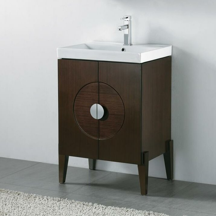 "Bathroom Vanity Base madeli genova 24"" wall mount bathroom vanity base & reviews 