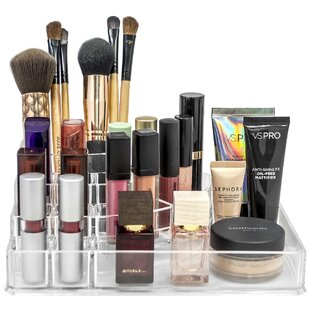 Read Reviews Sectional Makeup Cosmetic Organizer ByRebrilliant