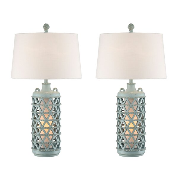 Eli Lantern 31 Table Lamp (Set of 2) by Beachcrest Home