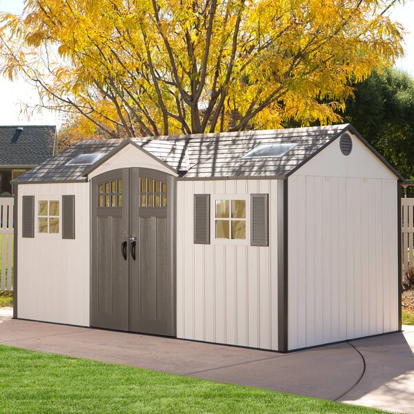 14 ft. 10 in. W x 8 ft. D Plastic Storage Shed by Lifetime