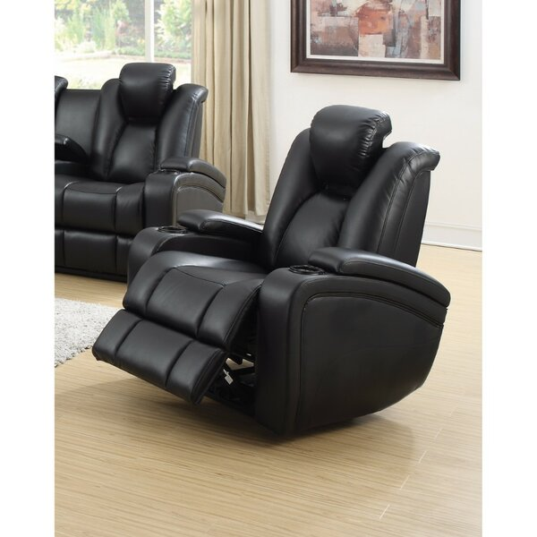 Renko Extraordinary Power Recliner with Adjustable Headrest by Latitude Run