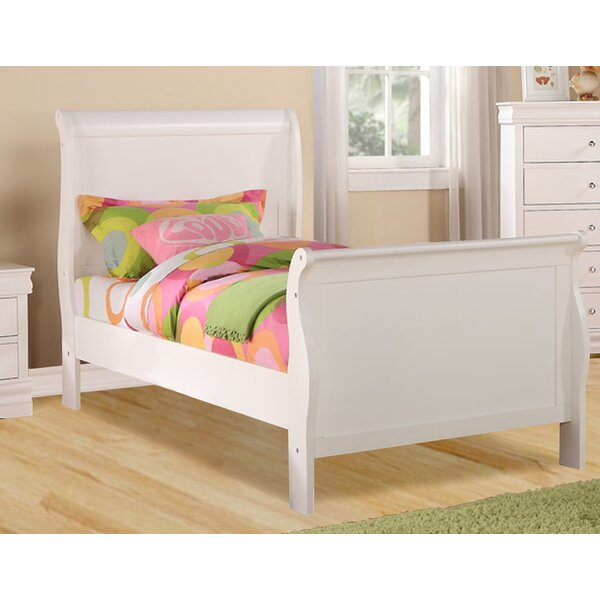 Julie Sleigh Bed by Alcott Hill