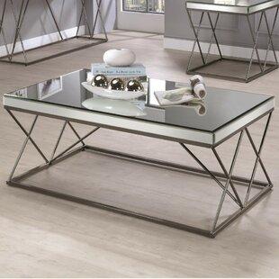 Kellogg Modern Mirrored Coffee Table