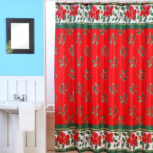 Online Reviews Christmas Shower Curtain Set ByDainty Home