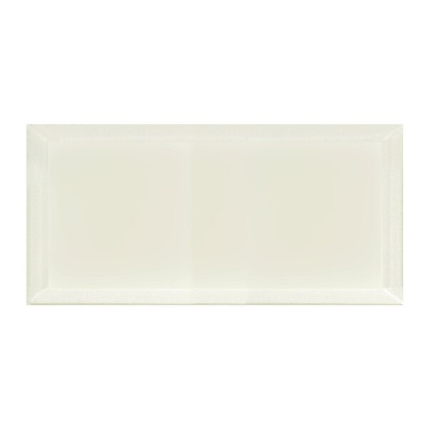 Frosted Elegance 8 x 16 Glass Field Tile in Matte Cream by Abolos