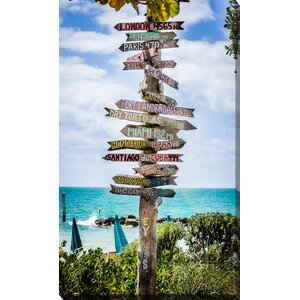 'Key West Signs' Photographic Print on Wrapped Canvas by Picture Perfect International