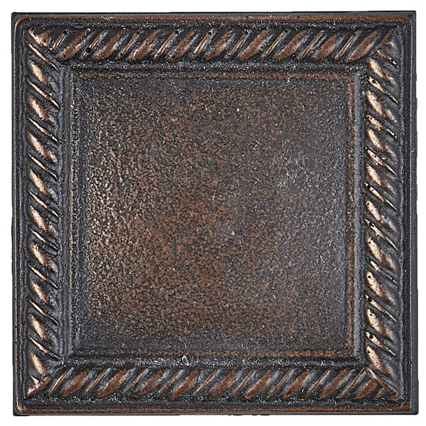 Tilden 2 x 2 Metal Rope Decorative Accent Tile in Oil Rubbed Bronze by Itona Tile