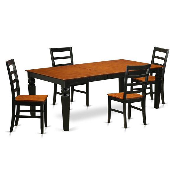 Logan 5 Piece Dining Set by Wooden Importers