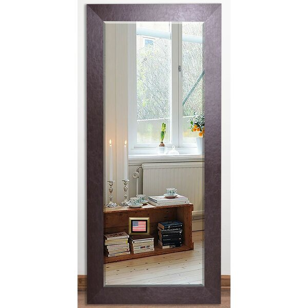 Brown Leather Beveled Wall Mirror by Darby Home Co