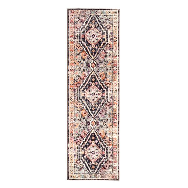 Vallejo Medallion Brown/Ivory Indoor/Outdoor Area Rug