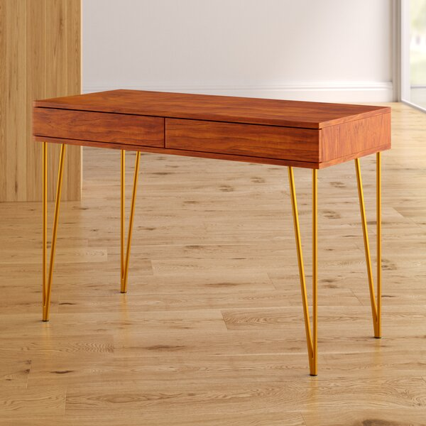 Sandara Pine 2 Drawer Writing Desk by George Oliver