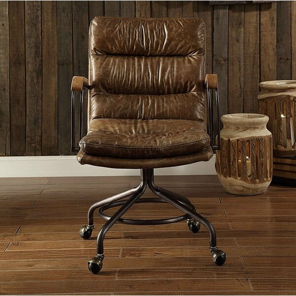 Leblanc Swivel Executive Genuine Leather Office Chair by 17 Stories