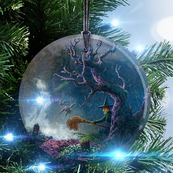 Thomas Kinkade (Dorothy Discovers the Emerald City) Hanging Shaped Ornament by Trend Setters