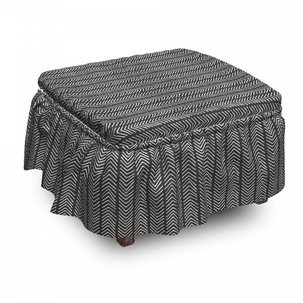 Simplistic Ottoman Slipcover (Set Of 2) By East Urban Home