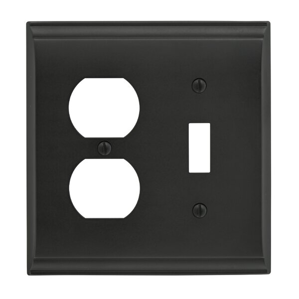 Candler Toggle 2 Plug Wallplate by Amerock