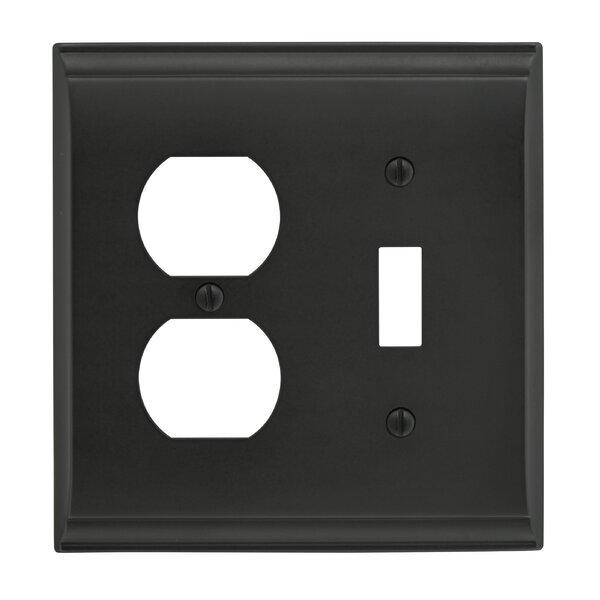 Candler Toggle 2 Plug Wallplate by Amerock