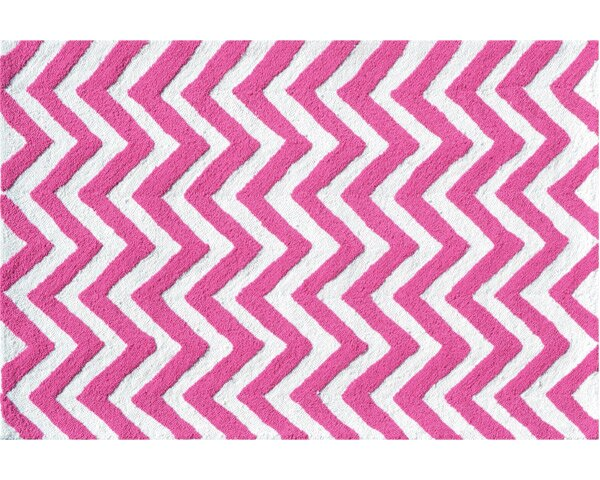 Hand-Hooked Pink/White Area Rug by The Conestoga Trading Co.