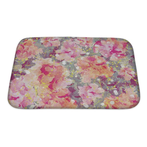 Art Primo Watercolor Flower Bath Rug by Gear New