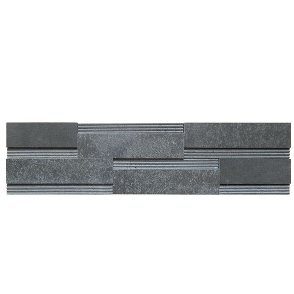 Wall Panel Polished Natural Stone Mosaic Tile in Black by QDI Surfaces