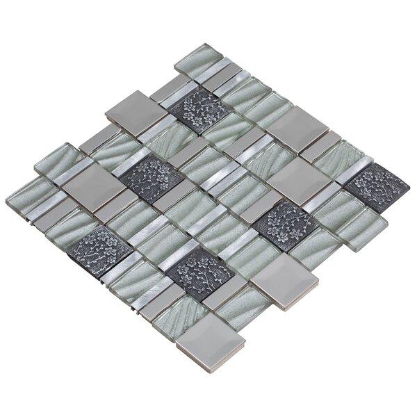Vitray 12 x 12 Mixed Material Mosaic Tile in Silver by Mirrella
